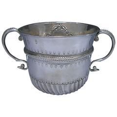 Queen Anne Britannia Silver Porringer