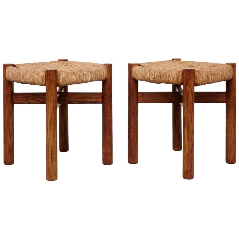 Pair Of Stools By Charlotte Perriand For Meribel Circa