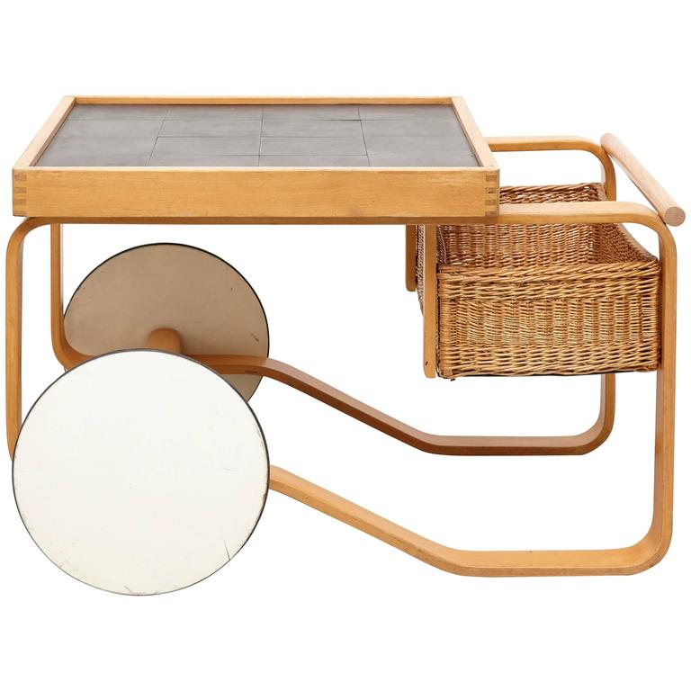 Alvar Aalto Tea Trolley Model 900 For Sale