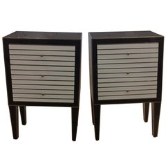 Pair of Glass Side Tables, Italy 1960s