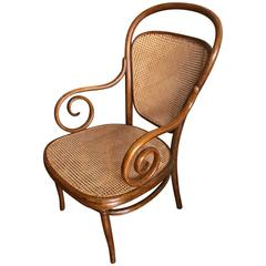 Thonet bentwood  Nr 12 Beech Natural Labeled and Stamped Thonet, 1890