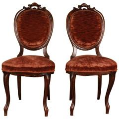 Two Original Louis Philippe Chairs, circa 1860