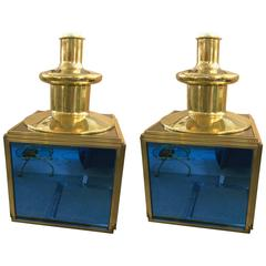 Pair of Italian Table Lamps in the Style of Roberto Giulio Rida, circa 1960