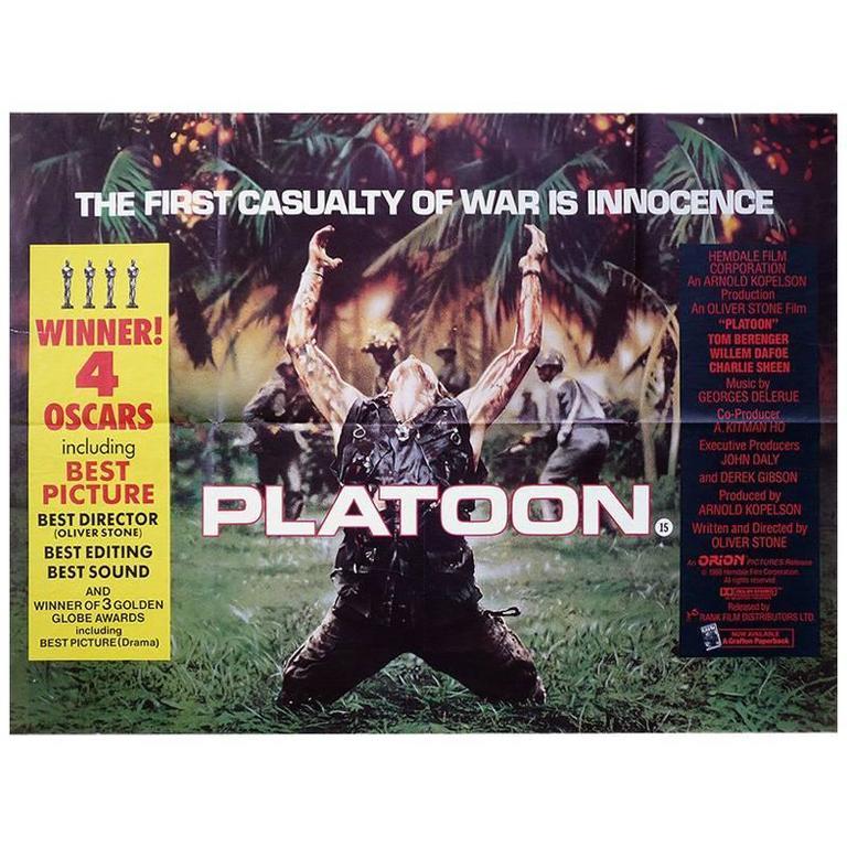 Platoon 1986 Poster