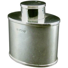 Fine Georgian Style Sterling Silver Tea Caddy by Asprey, Hallmarked London 1908