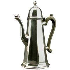 Very Good George I Style Sterling Silver Coffee Pot, Edinburgh, 1909