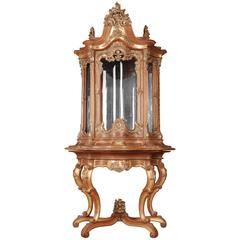 20th Century Splendid Display Cabinet in the Rococo Style