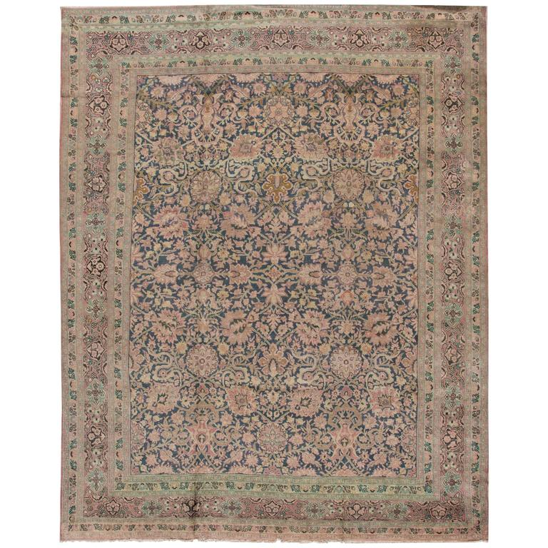 Nice looking antique distressed persian tabriz rug for for Nice rugs for sale