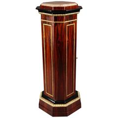 Extraordinary Neoclassical Column-Style Cabinet