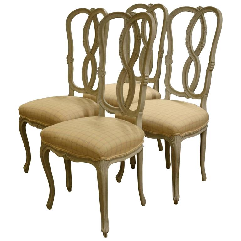 Set of Four Italian Painted Chairs