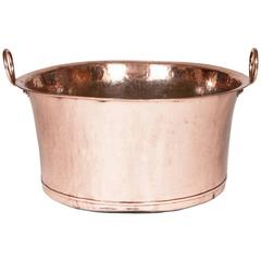 Large Victorian Two Handled Copper Pot, Jam Pan or Wine Cooler