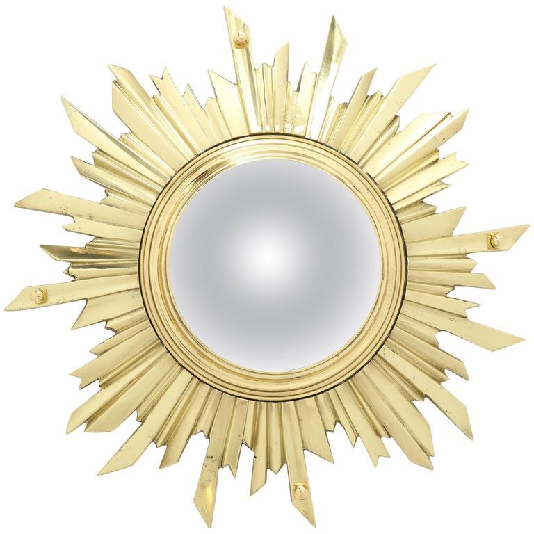 Unusual Bronze Sunburst Mirror 1