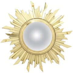 Unusual Bronze Sunburst Mirror