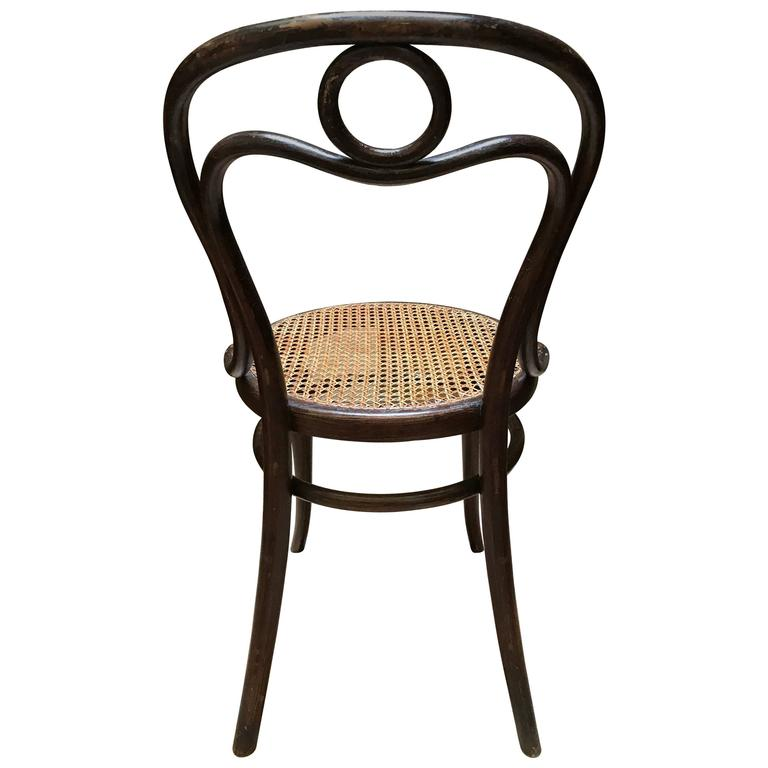 thonet bentwood chair nr 31 stamped and labeled by thonet 1890 for sale at 1stdibs. Black Bedroom Furniture Sets. Home Design Ideas