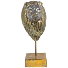 Large Sergio Bustamante Bust of a Lion Signed and Editioned