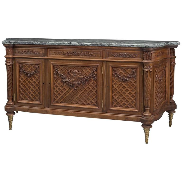 Louis XVI Style Beech Side Cabinet by Maison Grimard, French, circa 1870