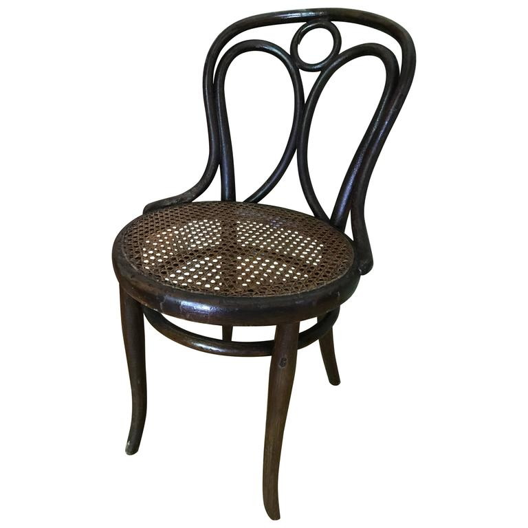 Thonet bentwood Chair nr 19 Original Patina Stamp by Thonet 1890