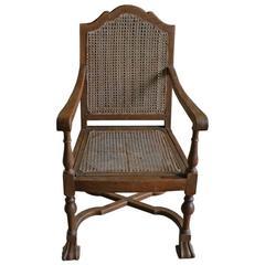 Antique Wooden Wheelchair At 1stdibs