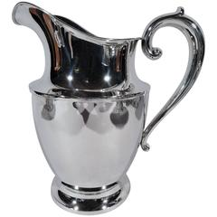 Classic American Sterling Silver Water Pitcher