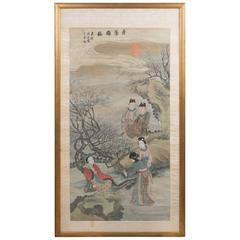 Early 20th Century Framed Chinese Painting on Paper