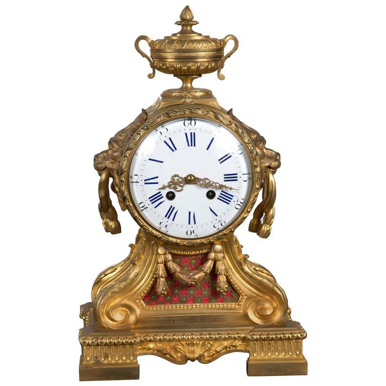 18th Century French Gilt Bronze Clock