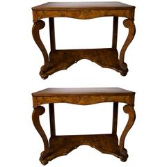 Pair of Continental 'Possibly German' Console Tables