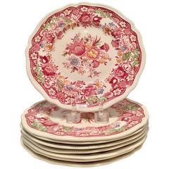 "Mid-Century English Ceramic ""Dorchester"" Set of Eight Luncheon Plates"