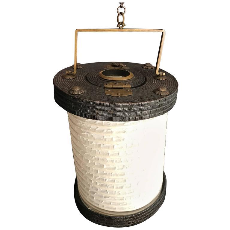 Japan Antique Portable Lantern Chochin Rare Survivor 19th Century