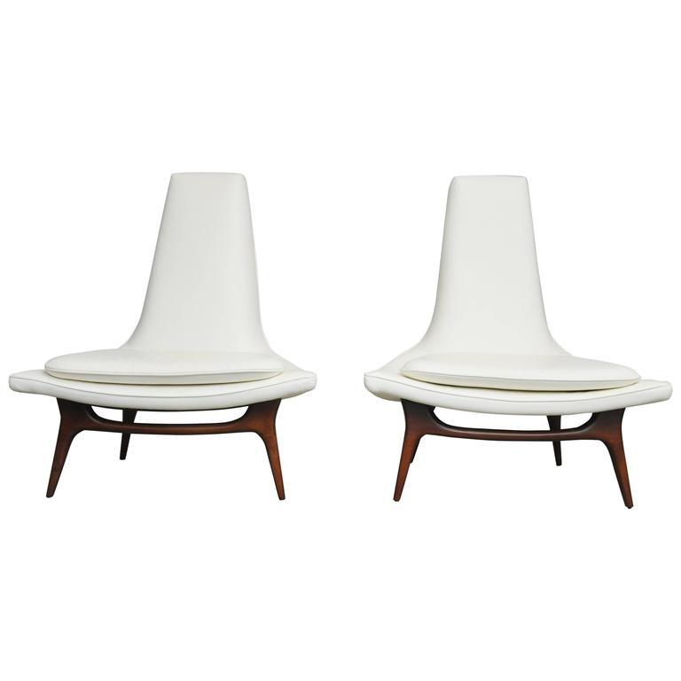 Karpen High Back Lounge Chairs 1
