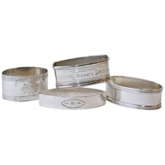 Three Antique Sterling Napkin Rings