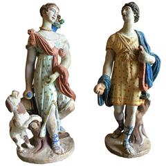 Pair of Classical Figurines, 18th Century
