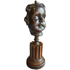 Bronze Bust of a Cherub