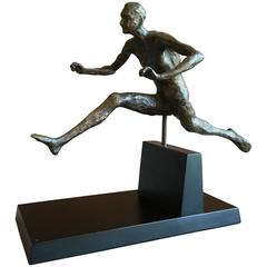 Bronze Figure of a Hurdler