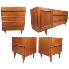 Impressive Mid-Century Modern Bedroom Set by American of Martinsville
