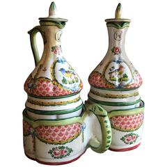 18th Century French Faience Cruet Set
