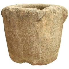 Ancient French Stone Mortar from 17th Century or Earlier