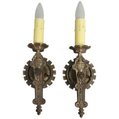 Pair of 1920s Single Light Sconces