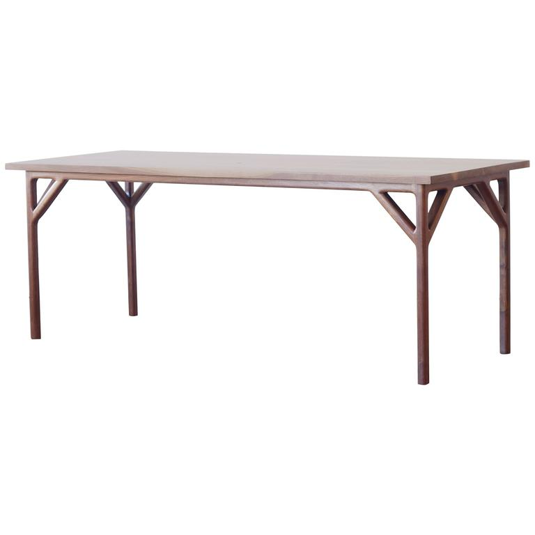 T01 Contemporary Handmade Solid Walnut Dining Table by Jason Lewis Furniture