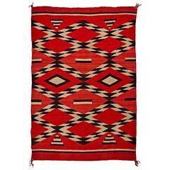 Incredible Transitional Ganado Navajo Rug, circa 1890s
