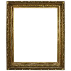 Antique Gilt Gesso Fine Art Frame, Floral Decoration