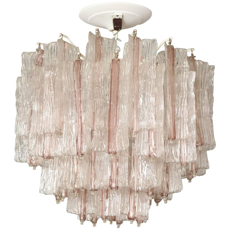 Vintage Amethyst and Clear Murano Glass Chandelier by Toni Zuccheri for Venini 1
