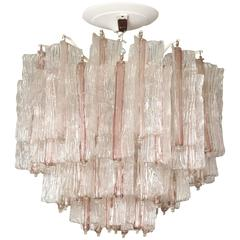 Vintage Amethyst and Clear Murano Glass Chandelier by Toni Zuccheri for Venini