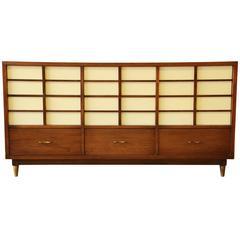 Merton Gershun Mid-Century Modern Nine-Drawer Dresser or Credenza
