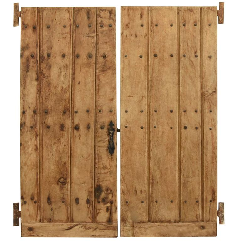 Pair of 17th Century Spanish Doors from the Basque Region with Original Iron