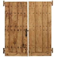 Pair of 17th Century Spanish Doors from the Basque Region with Original Iron