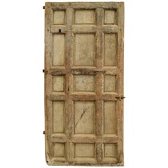 17th Century Spanish Chestnut Door with Iron Hardware