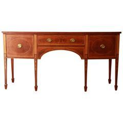 Baker Furniture Historic Williamsburg Inlaid Mahogany Sideboard