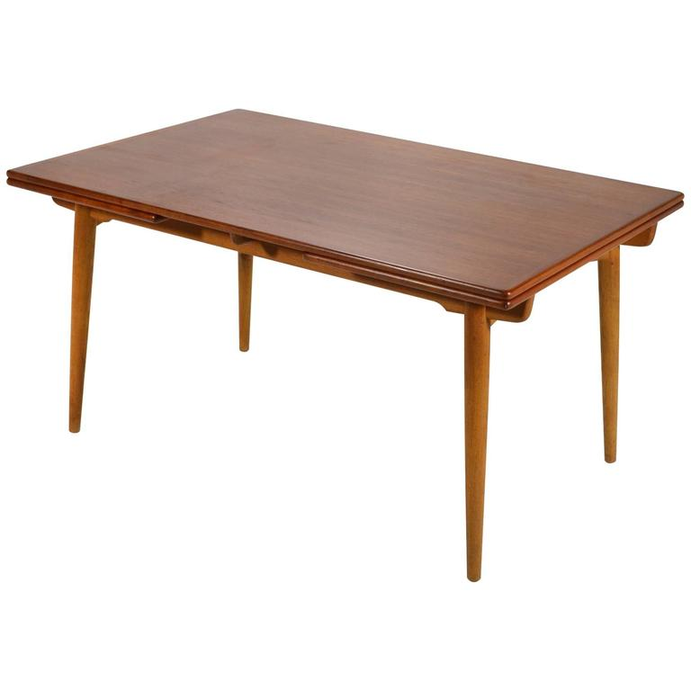 Hans Wegner AT312 Draw-Leaf Dining Table by Andreas Tuck 1