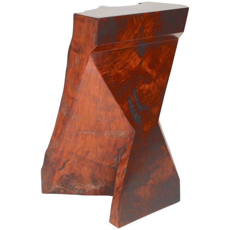 Rick Yoshimoto Asymmetrical Redwood Stool 1