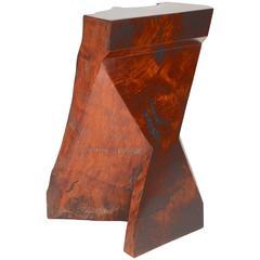 Rick Yoshimoto Asymmetrical Redwood Stool